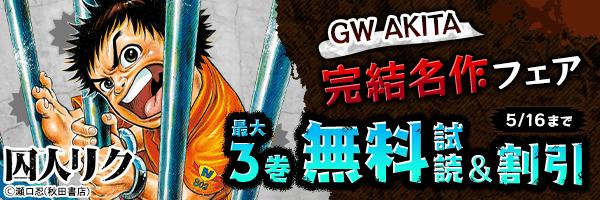 GW AKITA完結名作フェア